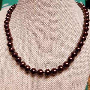 Jewelry - 10mm Chocolate South Sea Shell Pearl Necklace